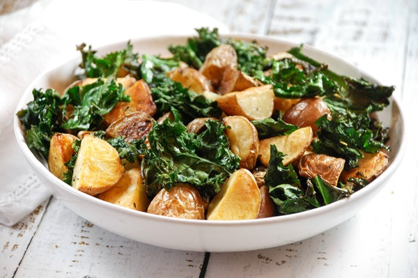 recipe image Roasted Potatoes & Kale