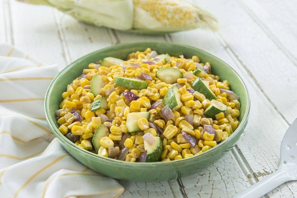 recipe image Charred Corn & Zucchini Saute