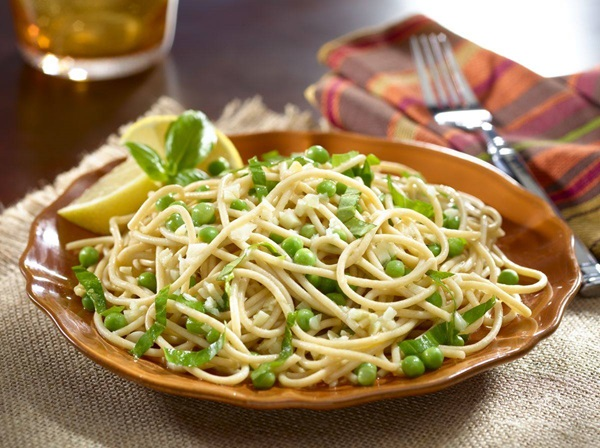 recipe image Basil Pasta with Peas