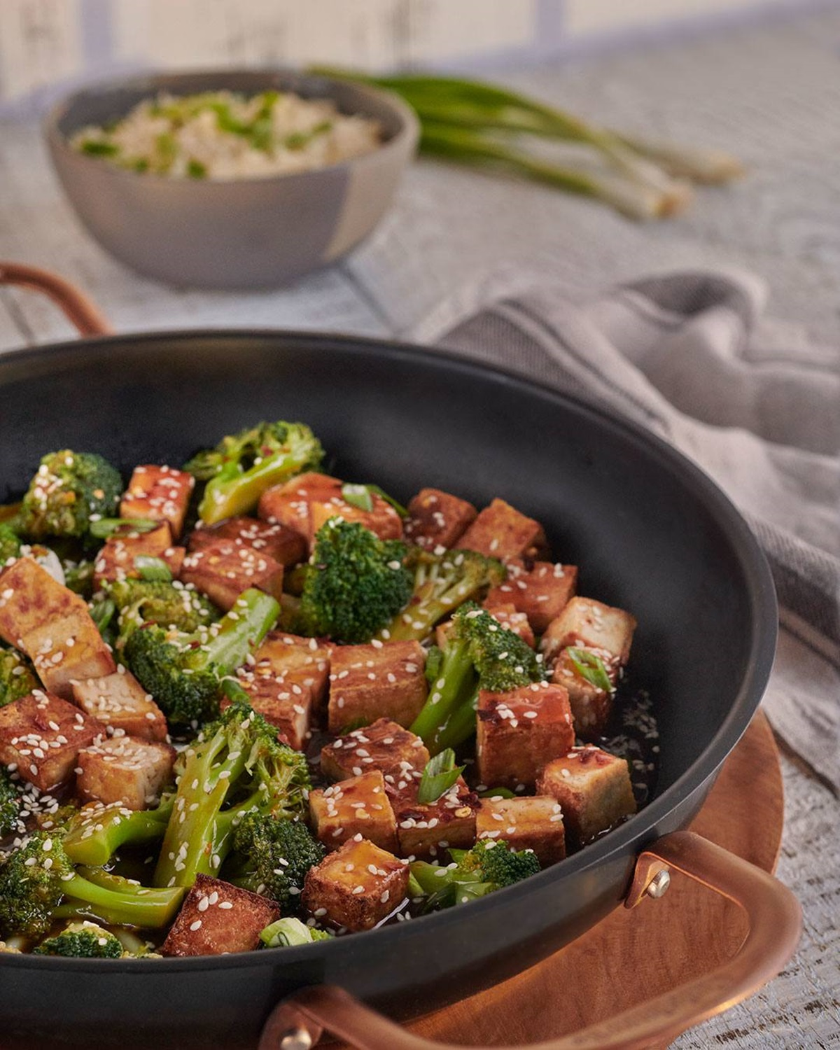 recipe image Sesame Garlic Tofu & Broccoli