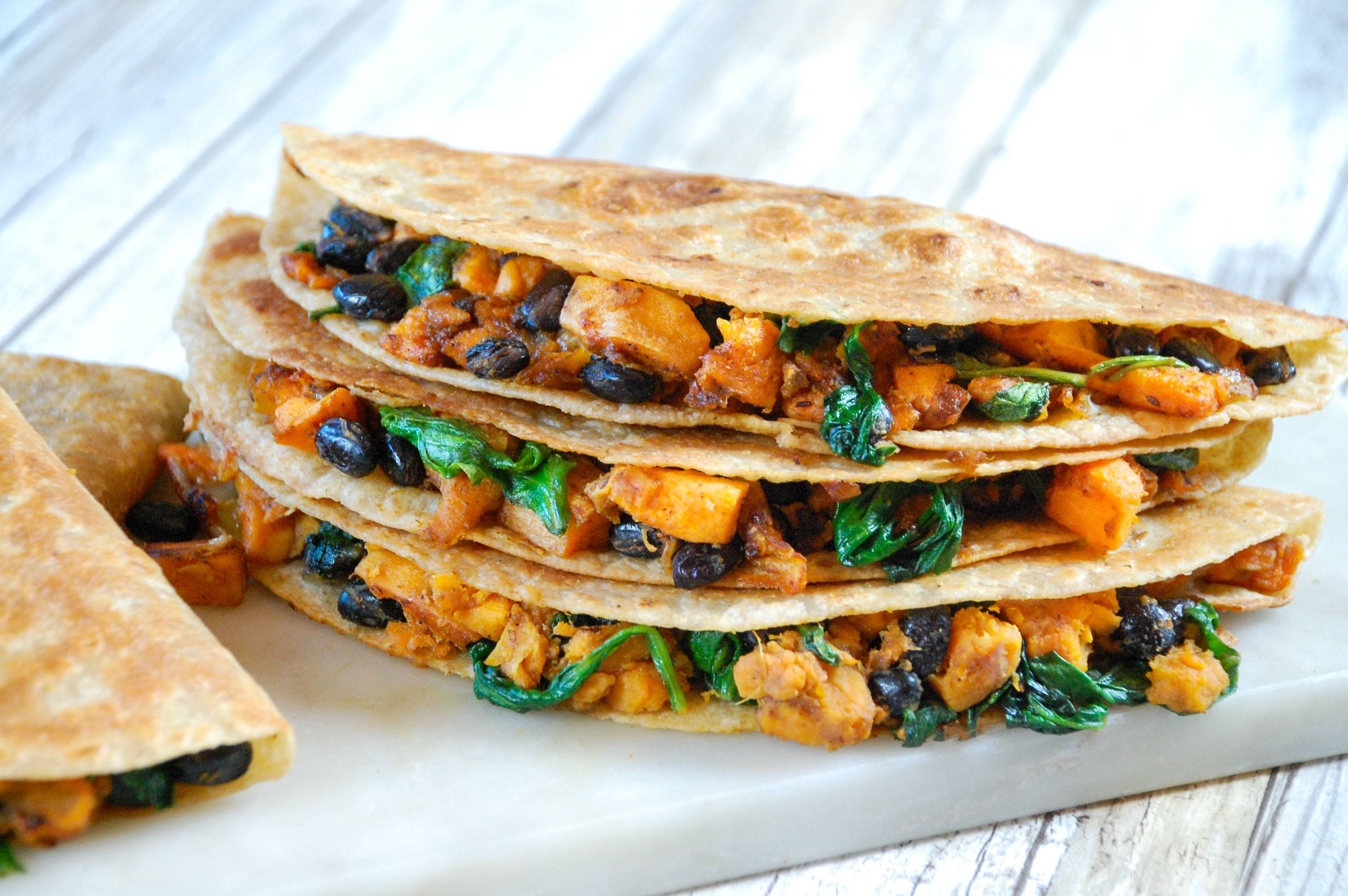recipe image Black Bean & Sweet Potato Quesadillas
