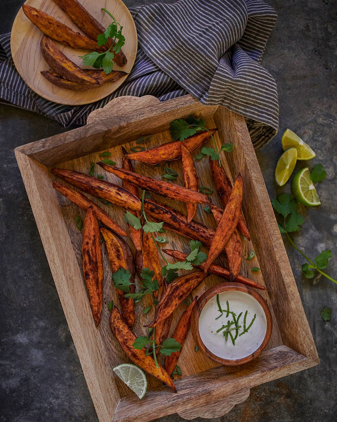 recipe image Cumin Scented Sweet Potato Wedges