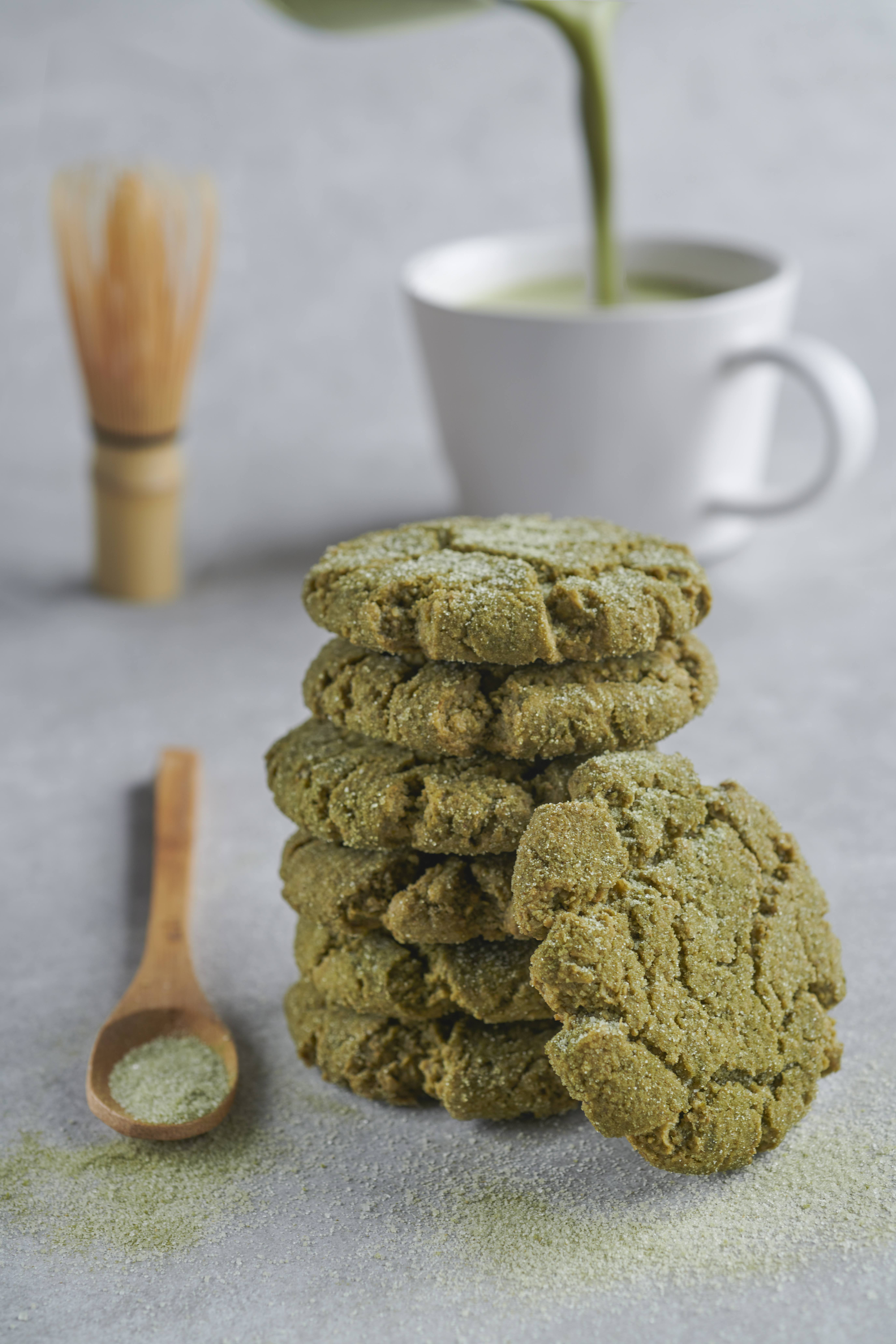 recipe image Matcha Breakfast Crinkle Cookies
