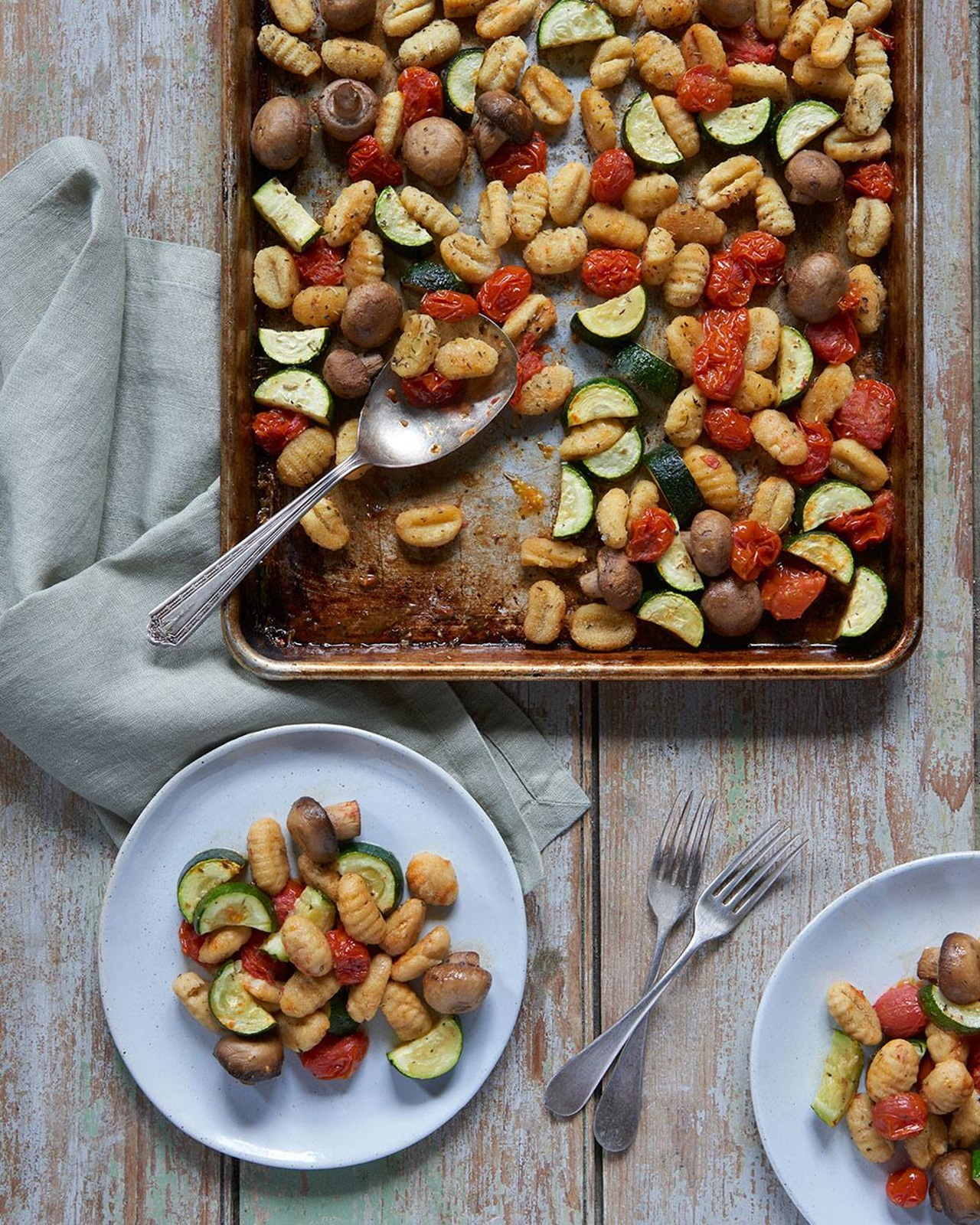 recipe image Sheetpan Cauliflower Gnocchi and Vegetables