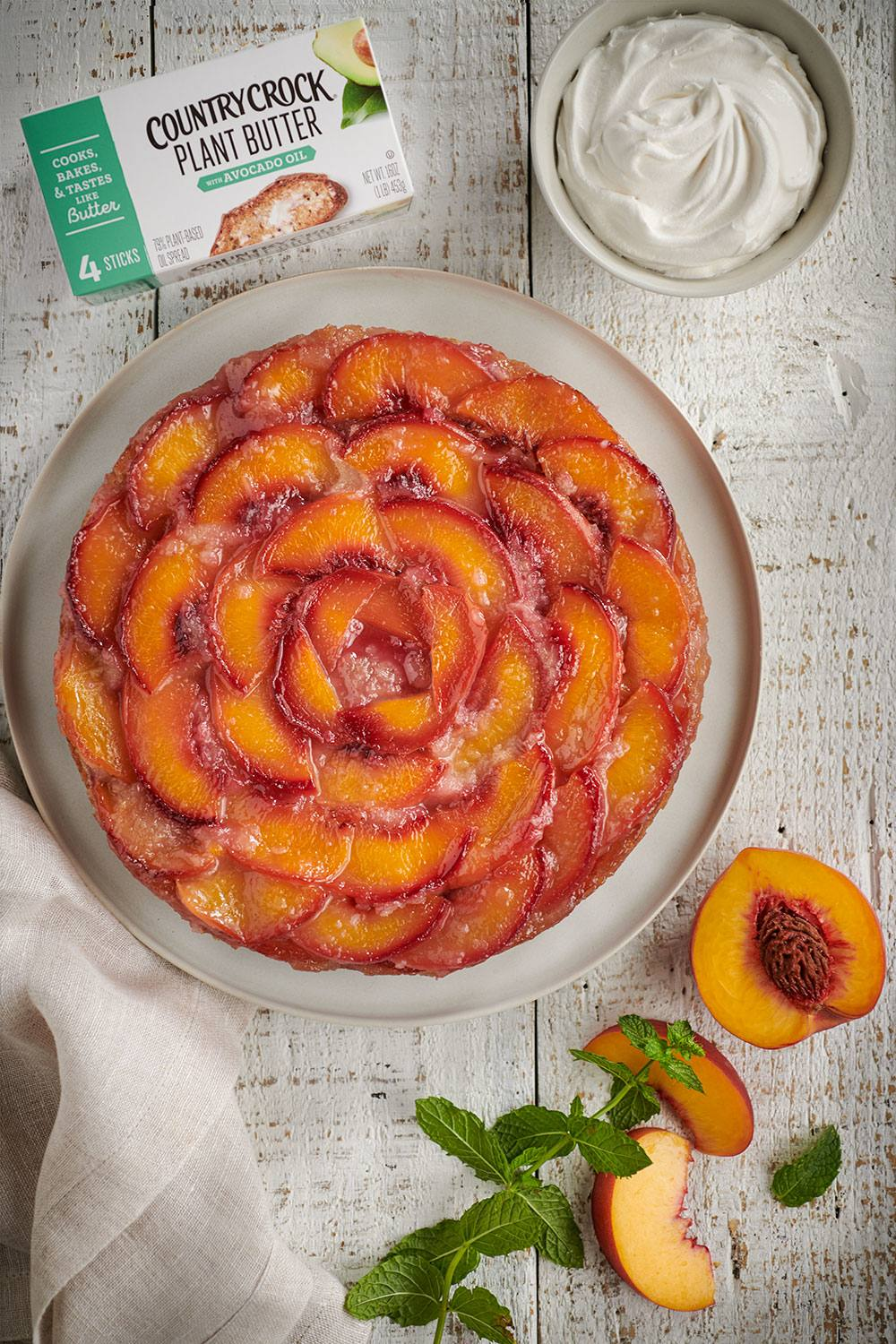 recipe image Peach Upside Down Cake
