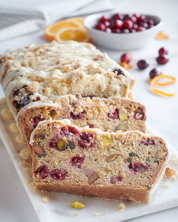 recipe image Cranberry Orange Bread with Streusel Topping