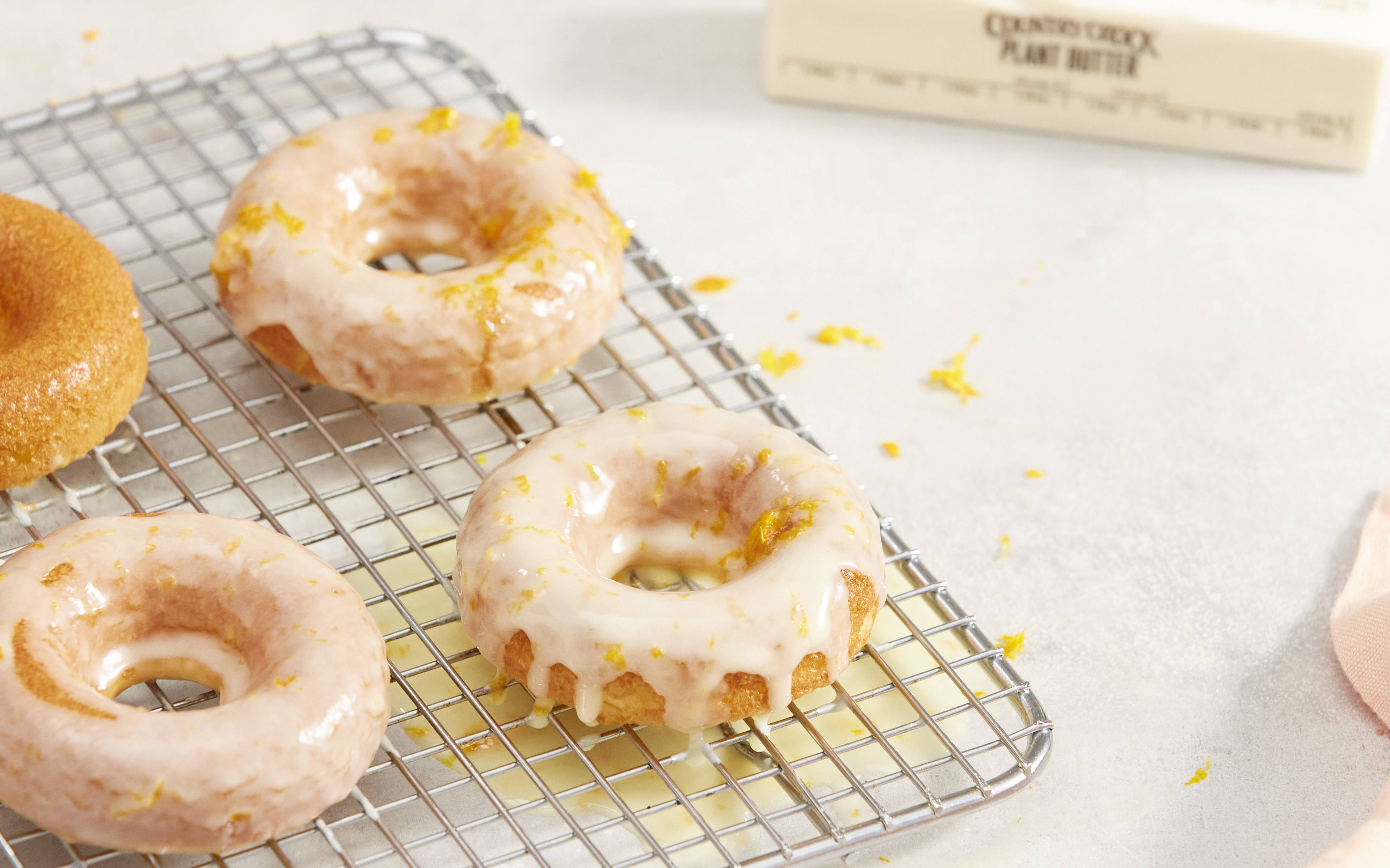 recipe image Boxed Cake Donuts with Orange Zest Glaze