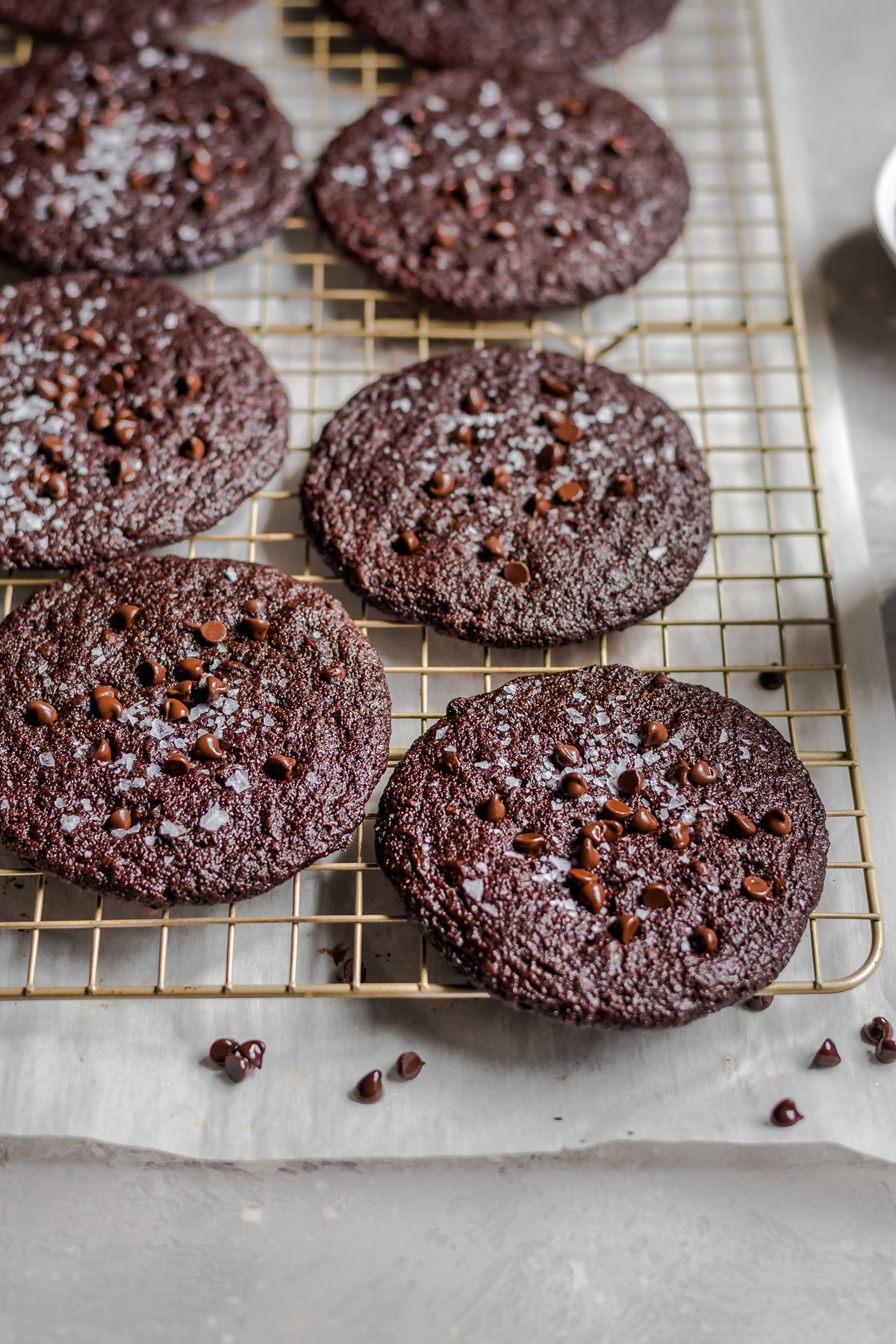 recipe image Vegan Dark Chocolate Blackout Cookies