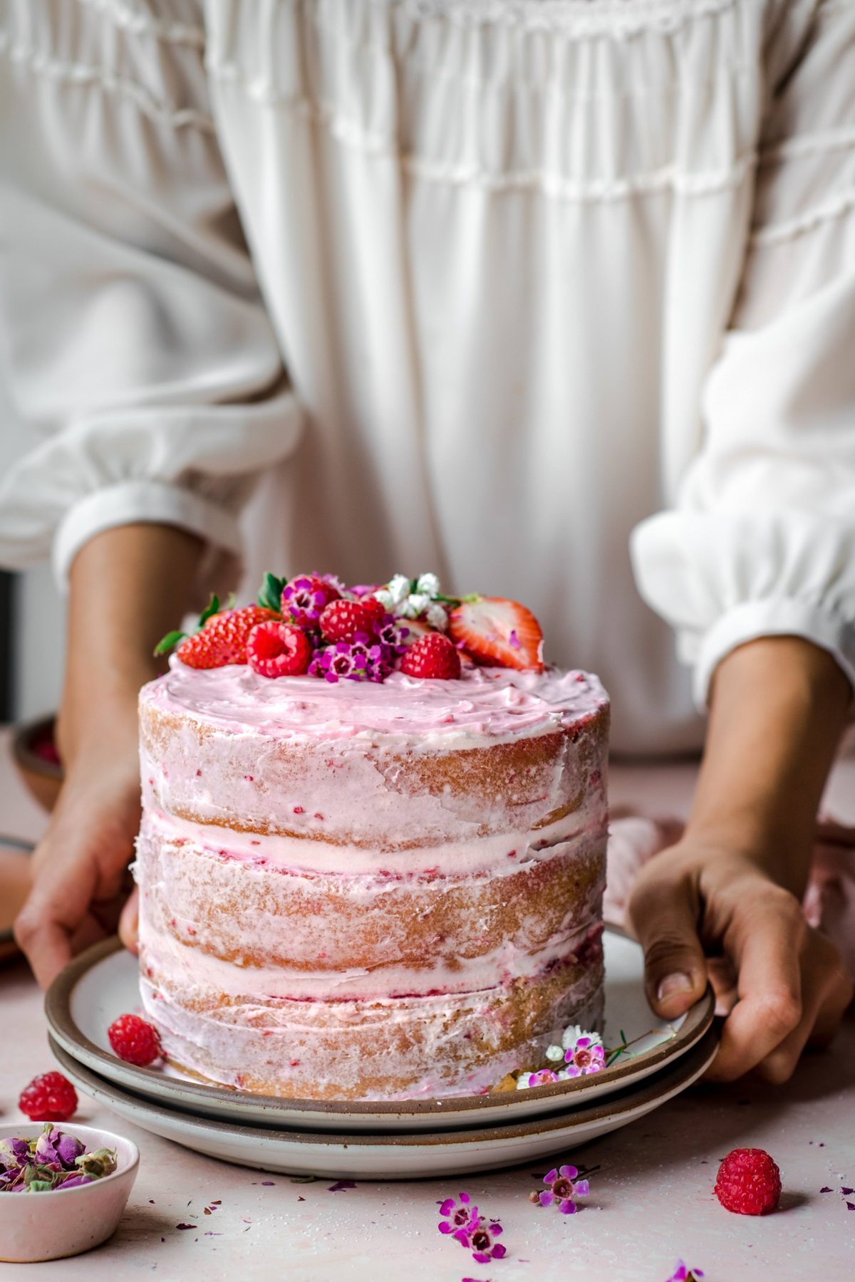 recipe image Vegan Vanilla Layer Cake with Raspberry Jam