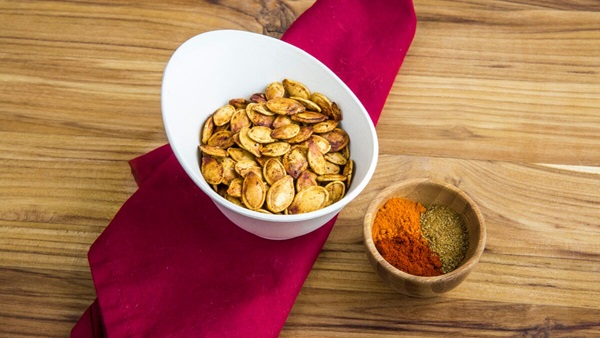 recipe image Spicy Pumpkin Seeds