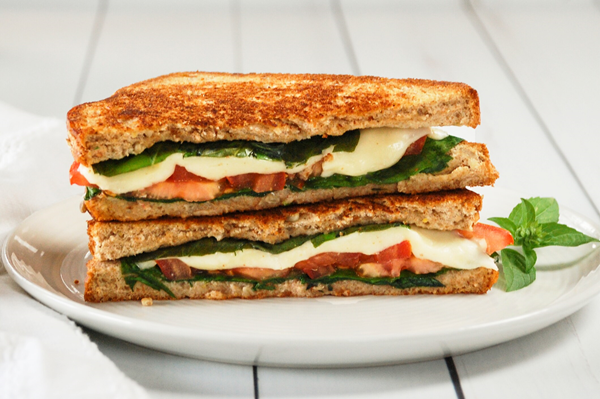 recipe image Grilled Vegetable and Mozzarella Sandwich